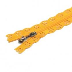 Fermeture Eclair 30 cm Dentelle Orange