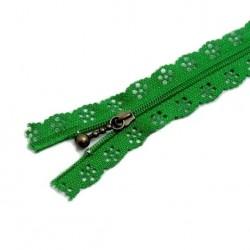 Fermeture Eclair 30 cm Dentelle Vert Forêt
