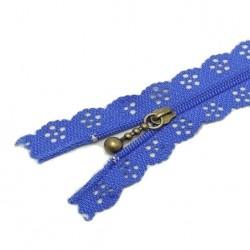 Fermeture Eclair 30 cm Dentelle Bleu-Roi
