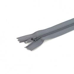 Tirette / Zip non séparable visible gris clair