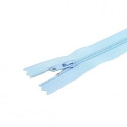 Fermeture à glissière non séparable visible bleu clair