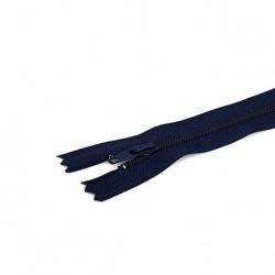 Tirette / Zip non séparable visible bleu marine très foncé