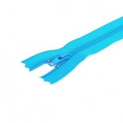 Tirette / Zip non séparable visible bleu turquoise