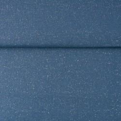 Bord Côtes Lurex Argent Bleu Jeans