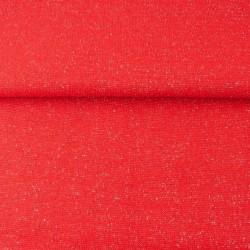 Bord Côtes Lurex Argent Rouge